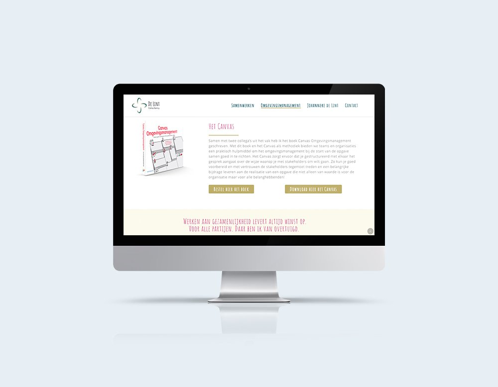 de lint consultancy wordpress website kleidi