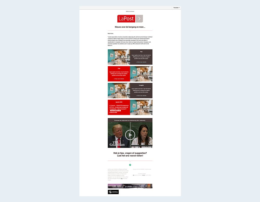 wordpress website mailchimp ontwerp