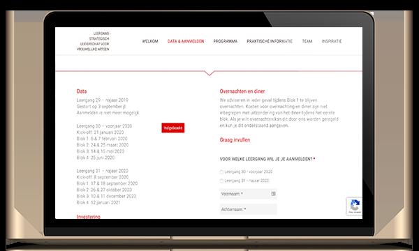 Website mailchimp formulier wordpress