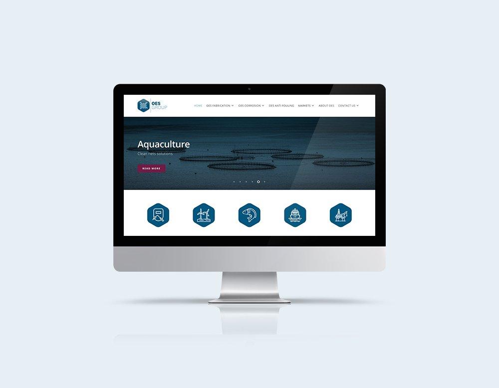 responsive website oes group kleidi