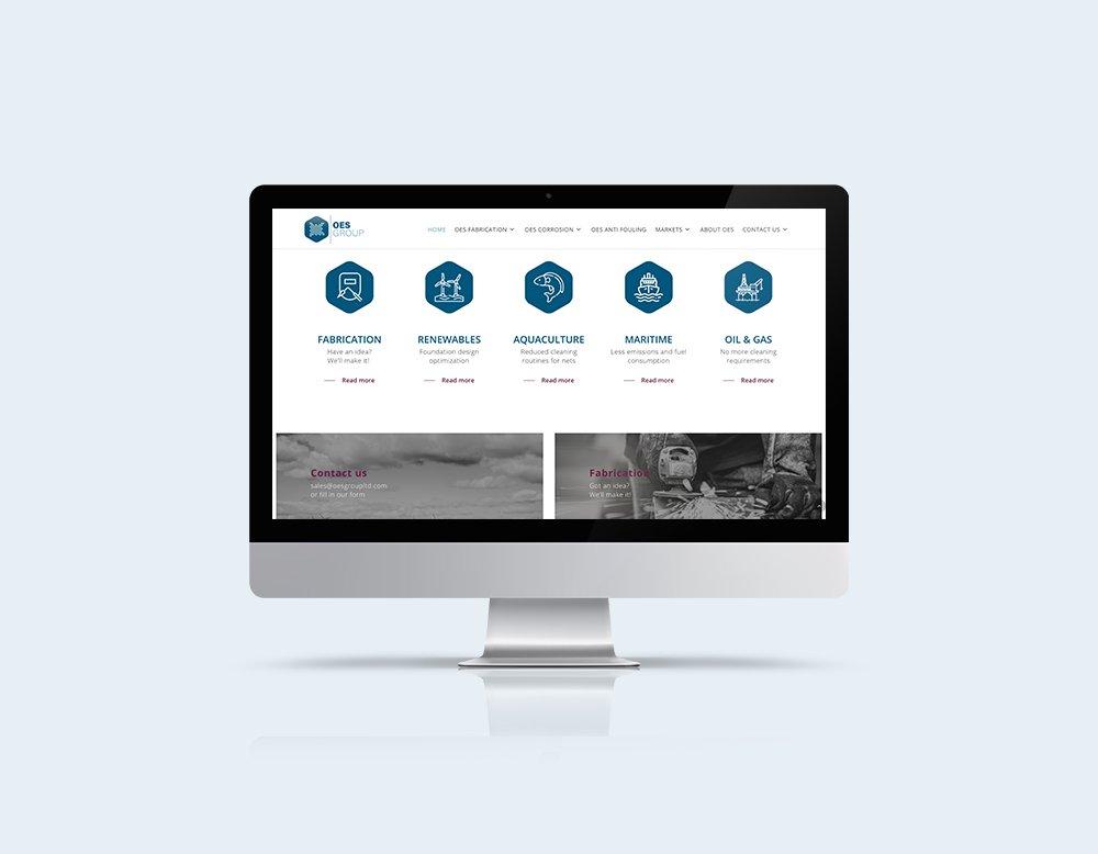 Responsive website OES