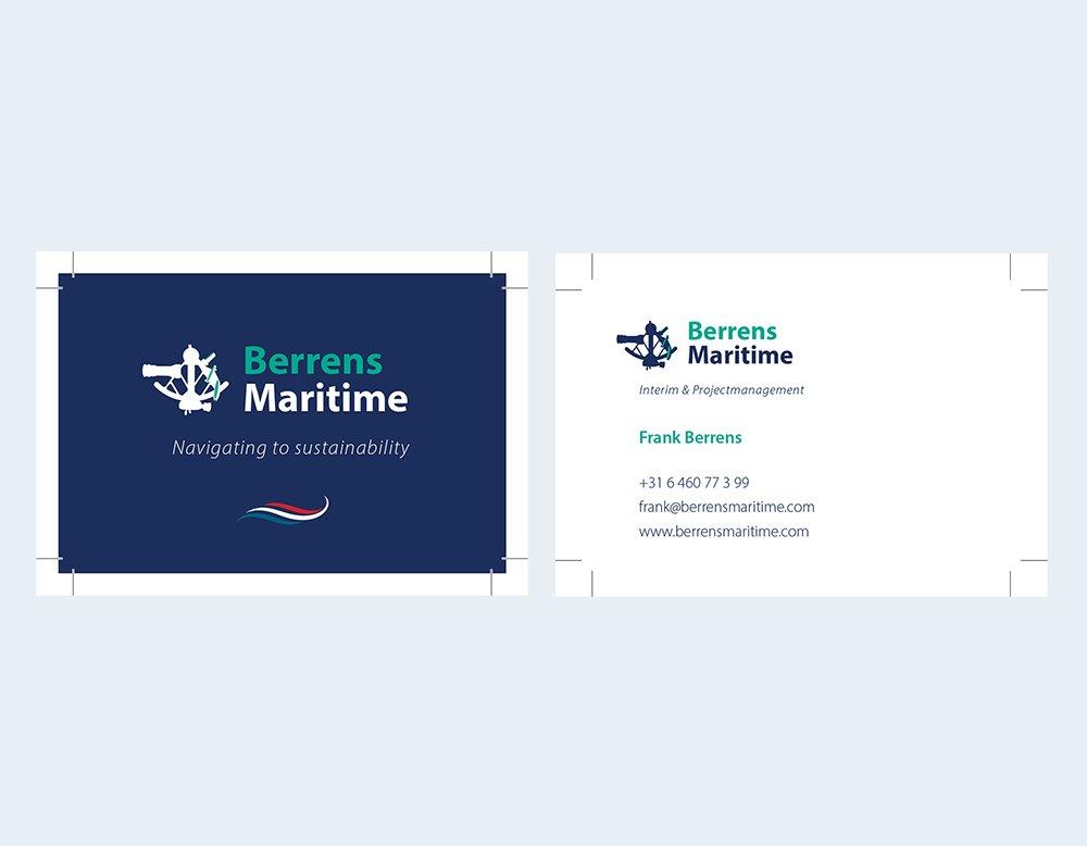 professionele huisstijl visitekaartjes berrens maritime kleidi