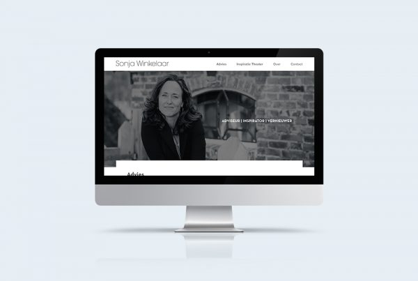 clean design website onepager sonja winkelaar kleidi